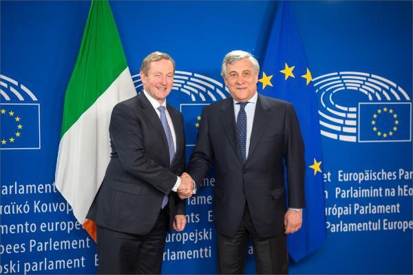 Irish PM Enda Kenny meets EP President Tajani_