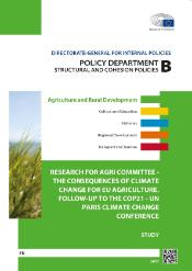 Consequences of climate change for EU agriculture