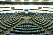 Plenary room of the European Parliament in Strasbourg, France