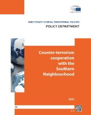 "DG EXPO Policy Department Study ""Counter-terrorism cooperation with the southern neighbourhood"" - photo of cover page of the study"