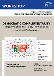 "Poster of AFCO workshop ""Implementing the Treaty Provisions on National Parliaments"" by Policy Department C"