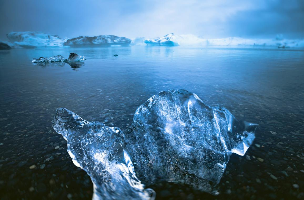 Picture of iceland glacier lagoon bay