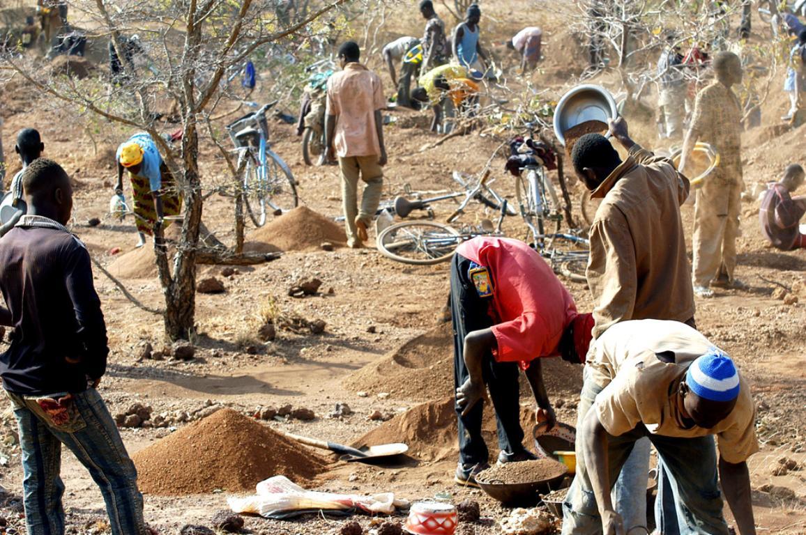 African gold mine