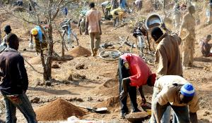 African gold mine