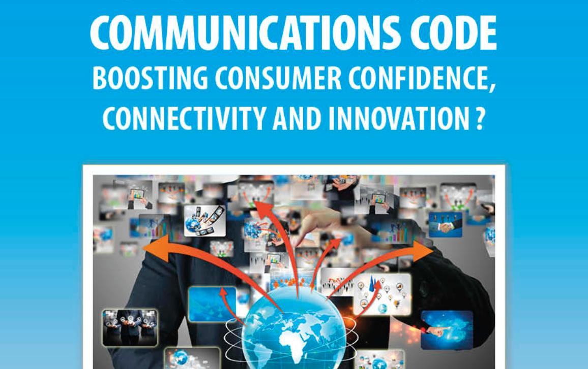 poster for the public hearing on European Electronic Communications Code - boosting consumer confidence, connectivity and innovation?