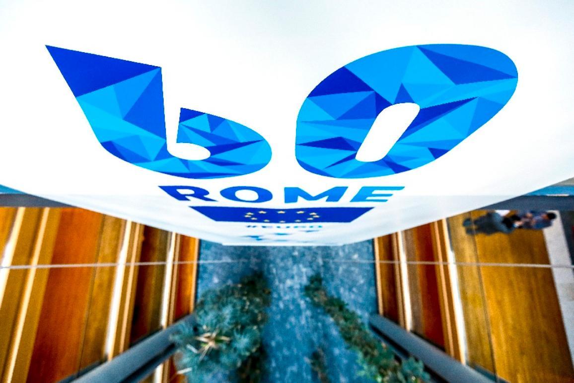 Logo des 60 ans des traités de Rome