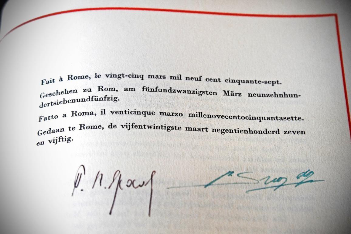 Φωτογραφία από τη Συνθήκη της Ρώμης