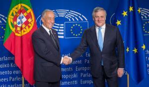 President Tajani meets President of Portugal De Sousa_