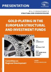 Cover page of the Study on Gold-plating in the European Structural and Investment Funds