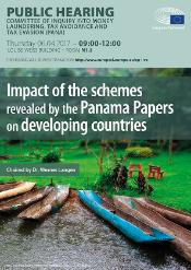 "PANA Public hearing on ""Impact of the Panama Papers on Developing Countries"""