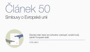 Ilustrace ustanovení článku 50 Smlouvy o EU