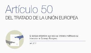 Infografía con los pasos del proceso de retirada de la UE