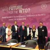 Image of EP Members during the Parliamentary Conference on the WTO in Geneva