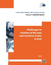 "Cover page of SEDE study  ""Challenges to freedom of the seas and maritime rivalry in Asia"""