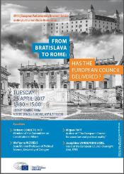 Event on 25 April in the Library Reading Room: From Bratislava to Rome: Has the European Council delivered?