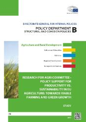 Policy support for productivity vs sustainability in EU agriculture