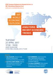 Poster for the EPRS event on the IMF's World Economic Outlook, held on the 25th April 2017