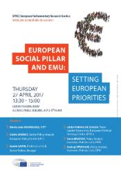 Poster for EPRS event on Social Pillar and EMU reform