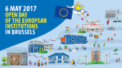 Poster promoting the open day of the European institutions, 2017.