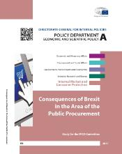 front page of the study on the consequences of Brexit in the Area of the Public Procurement