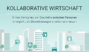 infographic illustration on collaborative economy