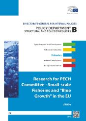 front page of study of small scale fisheries and blue growth in the EU