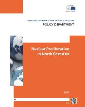 Photo of cover page of study on Nuclear Proliferation in North East Asia