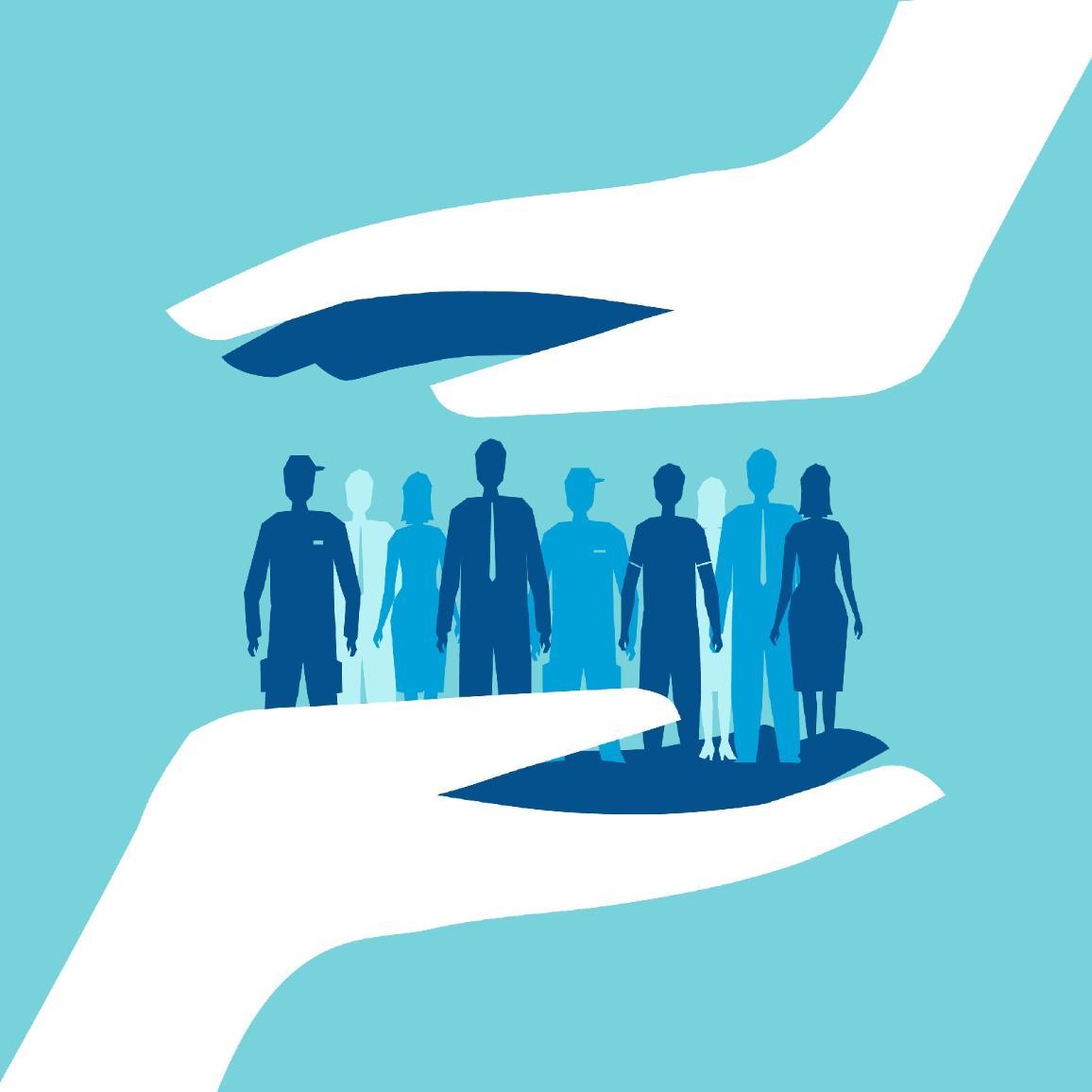 Afbeelding van mensen tussen twee handen  ©AP Images/European Union-EP