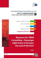 Poster of research for the TRAN committee - Passenger night trains in Europe: the end of the line?