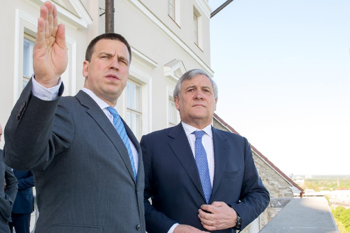 Jüri Ratas, Primo ministro dell'Estonia e  Antonio Tajani, Presidente del Parlamento  © European Union 2017 - EP/ Raigo Pajula