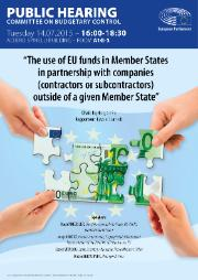 Hearing poster on the use of EU funds in Member States