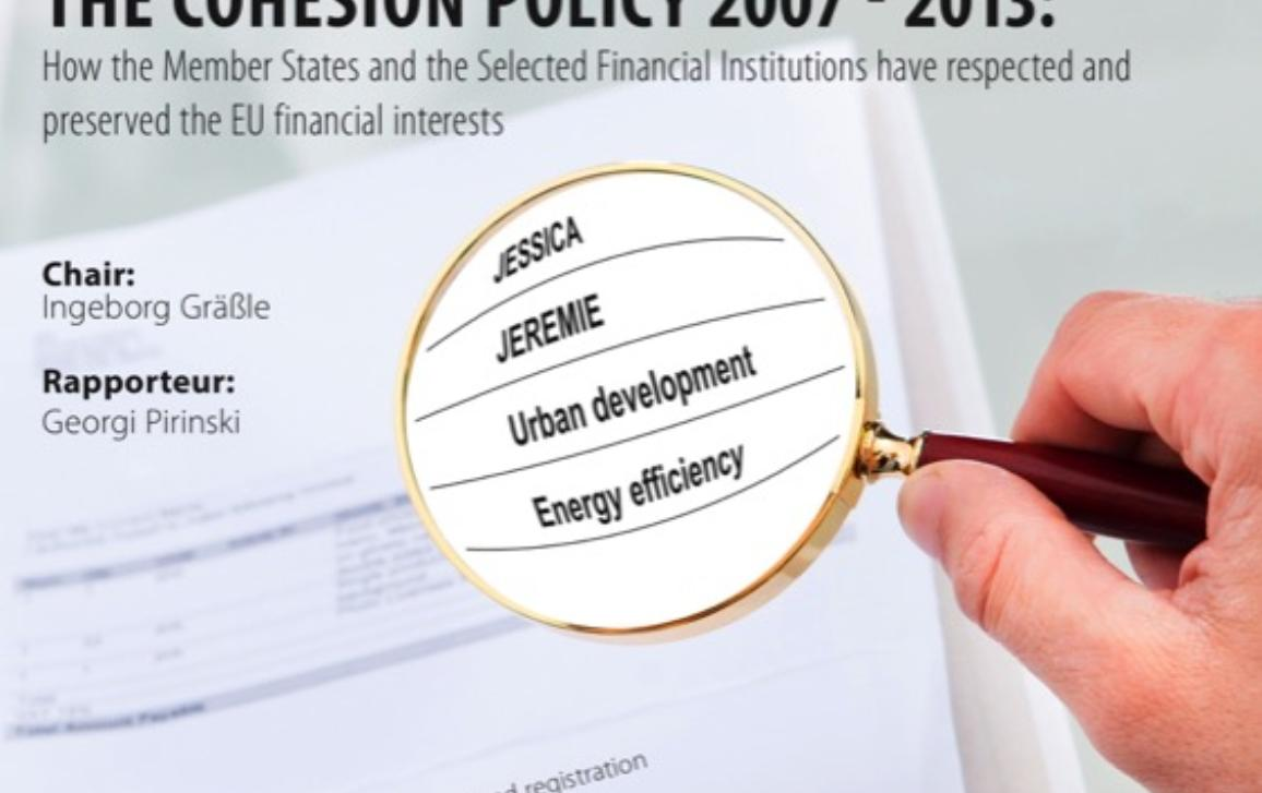 Hearing Poster on Financial Instruments Under Cohesion Policy 2007-2013