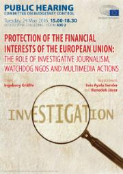 Hearing poster on Protection of the financial interests of the European Union