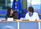 TRAN Chairwoman Karima Delli and Commissioner Violeta Bulc