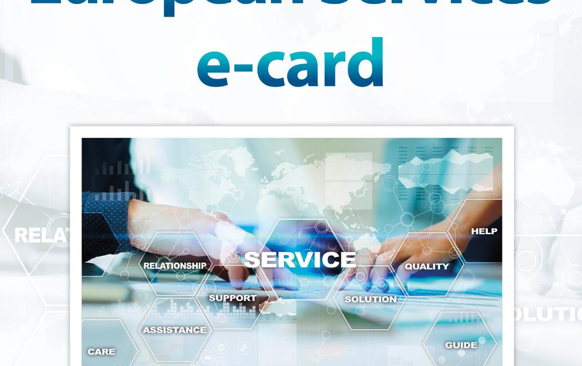 poster of the hearing on European Services e-card