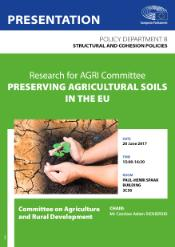 Study cover preserving agricultural soils