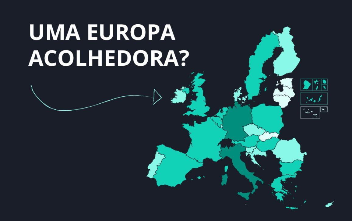 Explore a nossa infografia para saber mais sobre a evolução dos pedidos de asilo nos Estados-Membros da UE durante a crise da migração.