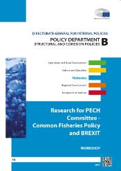 Front page of the research for PECH Committee - Common Fisheries Policy and BREXIT