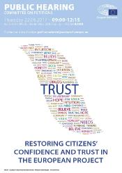 Poster public hearing restoring citizens trust