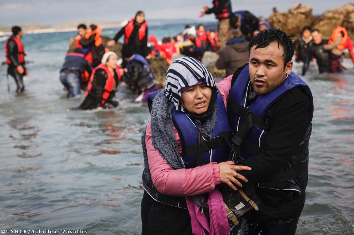 07_Migration: Afghans brave rough seas to cross from Turkey to the Lesvos, Greece ©UNHCR/Achilleas Zavallis