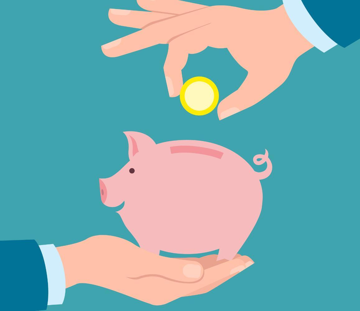 Kujundlik foto: rahakassa ja sinna asetatav münt