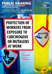Images of products containing carcinogens and mutagens, to which workers are exposed
