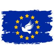 Dove of Peace on the flag of the European Union