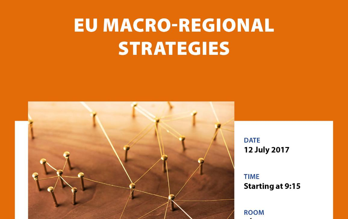 Poster for workshop on EU macro-regional strategies