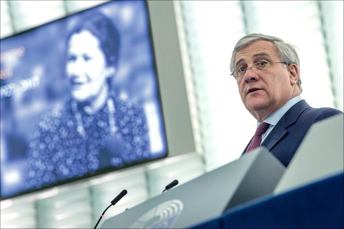 Portrait d'Antonio Tajani lors de la cérémonie