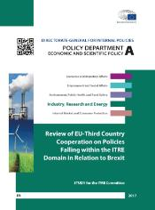 Study on Review of EU-third country cooperation on policies falling within the ITRE domain in relation to Brexit