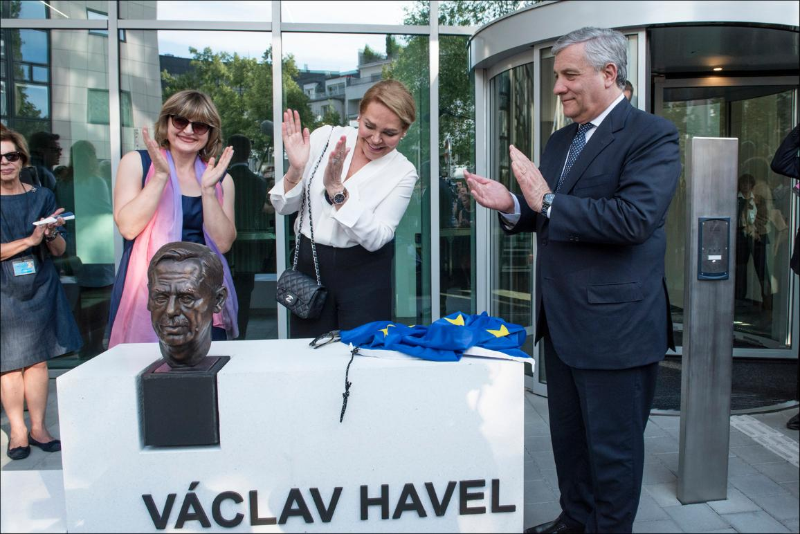 Inauguration of the Vaclav Havel building in Strasbourg by EP President Tajani and widow of the former Czech President, Dagmar Havlova on 05/07/2017
