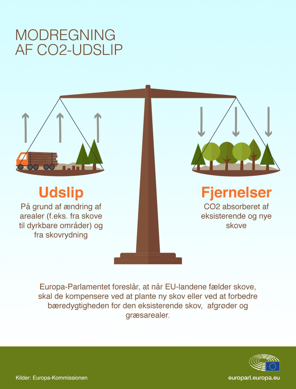 Infografik over EU's skove.