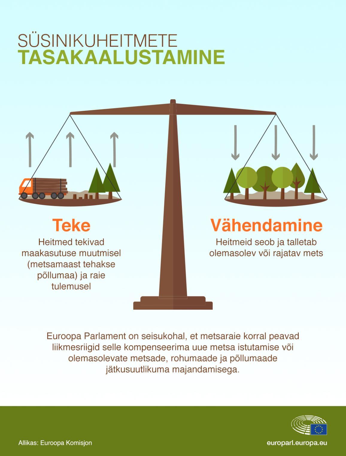 Infograafik. Süsinkuheitmete tasakaalustamine