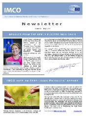 Frontpage of IMCO newsletter - issue 83 - July 2017